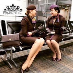 """Beautiful and stylish stewardesses Etihad"" ✈️✈️✨❤️"