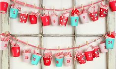 advent calendar made from dixie cups