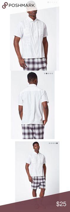 Pacsun cigar short sleeve Zipper shirt new size S New with tags size small white collared shirt stylish PacSun Shirts Dress Shirts