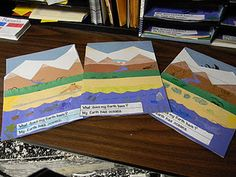 Landform flip books - super cute!