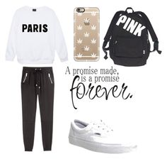 """Cozy"" by thaliaaviles on Polyvore featuring H&M, Vans, Casetify and Victoria's Secret"