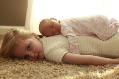 Newborn pictures -while this would be cute I think it would make me too nervous I'd be afraid of the baby falling