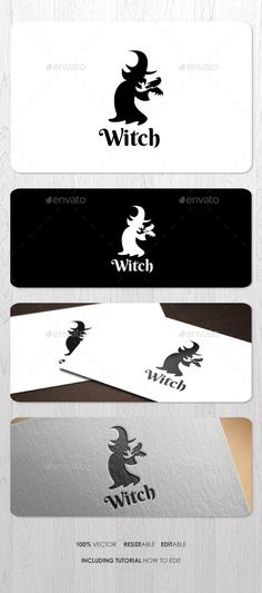 Witch Logo — Vector EPS #movie #mystery • Available here → https://graphicriver.net/item/witch-logo/9218844?ref=pxcr