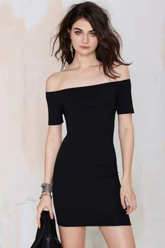 Nasty Gal Colita Bodycon Dress - LBD | Body-Con | Off The Shoulder | Dresses | Going Out Sale | | Dresses | Extra TV- Gladiators | Dresses