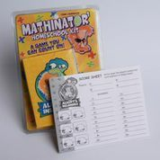 The Albert's Insomnia Game uses equations to mentally solve problems as they play this clever card game! a) Helping kids learn to think b) Learning math is fun c) Play in small or large groups d) Great classroom tool e) Ages 6 and up for 1 or more players