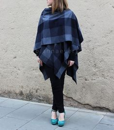 Tutorial: DIY ruana shawl wrap. This makes an awesome dance cover-up!