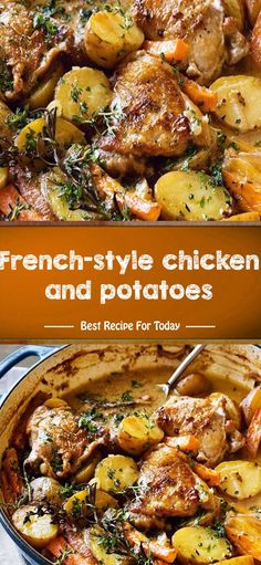 The post French-style chicken and potatoes appeared first on Tasty Recipes. One Dish Meals Tasty Recipes Chicken Pasta Recipes, Healthy Chicken Recipes, Easy Healthy Recipes, Easy Dinner Recipes, Easy Meals, Cooking Recipes, Delicious Recipes, French Chicken Recipes, Skillet Recipes