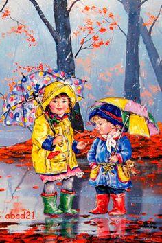 Детки на прогулке - анимация на телефон №1336119