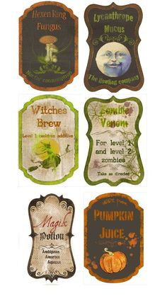 custom Potion labels by ~Pureblackmagik on deviantART