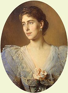 """Princess Victoria Melita """"Ducky"""" (later renamed Viktoria Feodorovna Romanova) (1876-1936) UK & Saxe-Coburg & Gotha, Germany. She was 3rd child of Prince Alfred (1844-1900) UK & Germany & wife Maria Alexandrovna (1853–1920) Russia. Victoria's 1st marriage to her 1st cousin Ernst Ludwig """"Ernie""""(Ernest Louis Charles Albert William) (1868-1937) Hesse was arranged by her grandmother Queen Victoria (1819-1901) & was not happy. They divorced in 1901 after the death of Queen Victoria."""