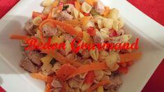 Salade de coquillettes au porc