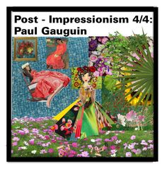 """My Impression Of  Paul Gauguin"" by diannecollier ❤ liked on Polyvore featuring Trademark Fine Art, Valentino, Philosophy di Lorenzo Serafini, Dolce&Gabbana, Napier, Chloé, Design Element and NOVICA"