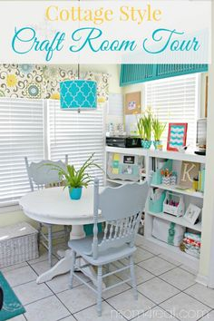 Cottage Style Craft Room Tour - Carve out a crafting space of your own
