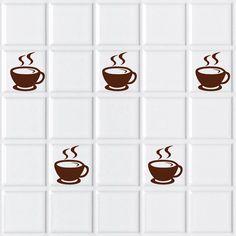 Tazas de café de vinilo, para colocar en los azulejos de la cocina.