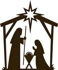 Image result for free printable silhouette of nativity scene