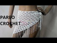 Pareo para la playa en tejido crochet tutorial paso a paso. - YouTube