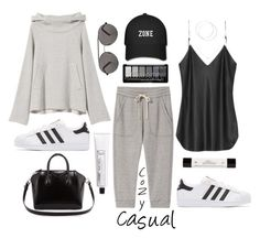 """Cozy Casual Wear!"" by prettynposh2 ❤ liked on Polyvore featuring adidas Originals, Givenchy, L:A Bruket, Accessorize, philosophy, Seafolly and lazy"