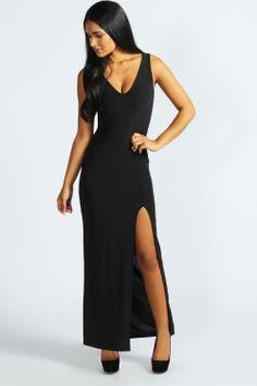 Kendal Plunge Neck Maxi Dress