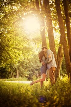 engagement pictures in the woods. Adam LeSage Photography.