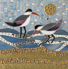 Mosaic sand pipers