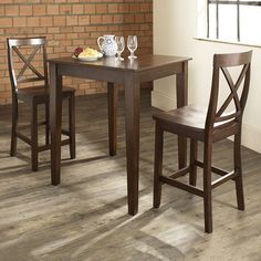Home Styles Cabin Creek 3 Piece Square Pub Table Set - Just right ...