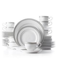 Mikasa Dinnerware, Platinum Crown 40 Piece Set