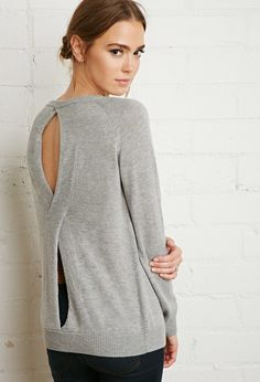 Twist Cutout-Back Sweater | Forever 21 - 2000172612