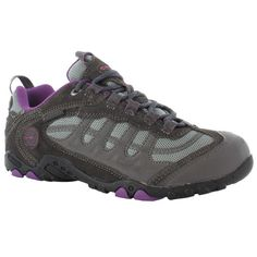 Hi-Tec Women's Penrith Low WP Walking Shoe - The Hi-Tec Penrith WaterProof Walking Boots feature a suede and mesh upper which provide a durable shell, keeping your feet comfortable and protected. A Waterproof Bootie Construction utilises a fully waterproof membrane to keep your feet dry and comfortable no matter where you're trekking!