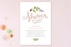 In the Garden Baby Shower Invitations by Kristen Smith at minted.com