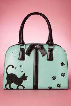Vixen TopVintage Exclusive ~ 50s Follow Me Kitty Handbag in Mint