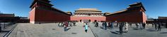 The Meridian Gate or Wumen, is the largest gate of the Forbidden City in Beijing.