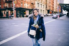 Outfit Details: Look 1- Ann Taylor Jacket, Vince Turtleneck, Chelsea28 Pants, Gianvito Rossi Boots, Michael Kors Bag c/o, Woolrich Beanie Look 2- J.Crew Blazer, ...