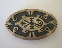 Mouse over image to zoom    Have one to sell? Sell it yourself  Vintage HOPI Sterling Silver Overlay Turtle BELT BUCKLE signed Mark TAWAHONGVA, $329