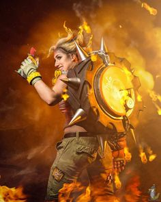 Shock Jockey Cosplay as Junkrat, from Overwatch. Photo by Snap Happy Ian