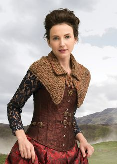 Lion brand Outlander Crochet Kit The Hunt Enthralling Capelet. A crochet project, one size fits all. The finished project measures Crochet Cape, Knit Or Crochet, Crochet Scarves, Crochet Shawl, Crochet Clothes, Crochet Kits, Discount Yarn, Outlander Knitting Patterns, Crochet Supplies