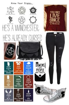 """Supernatural"" by belesque ❤ liked on Polyvore featuring Frame, Converse and Sole Society"