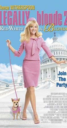 Directed by Charles Herman-Wurmfeld. With Reese Witherspoon, Sally Field, Bob Newhart, Regina King. Elle Woods (Reese Witherspoon) heads to Washington, D. to join the staff of a Representative in order to pass a bill to ban animal testing. Regina King, Reese Witherspoon, White Blonde, Red And White, Dark Crystal Movie, Blonde Movie, Elle Woods, Adam Sandler, Movies