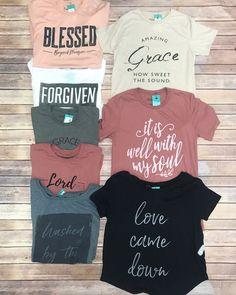 T-shirts - Cricut T Shirts - Ideas of Cricut T Shirts - T-shirts Christian Clothing, Christian Shirts, Christian Apparel, Vinyl Shirts, Tee Shirts, Idees Cate, Maude, Cute Shirt Designs, Jesus Shirts