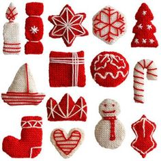 Knitted Christmas decorations ~ tutorial