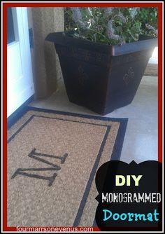 DIY Monogrammed Doormat   by Four Marrs & One Venus