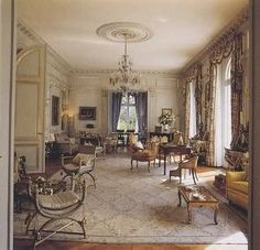 The Grand Salon of Duke & Duchess of Windsor in Paris ~ Duke and Duchess of Windsor's home in the Bois de Boulogne, Paris. Great visit with friends; everything left just as it was, as if they were coming right back!