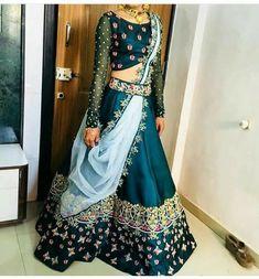 new Indian Lehenga Choli Ethnic Bollywood Wedding Bridal Party Wear Dress Designer Bridal Lehenga, Bridal Lehenga Choli, Indian Lehenga, Red Lehenga, Designer Lehanga, Ghagra Choli, Brocade Lehenga, Floral Lehenga, Indian Gowns Dresses