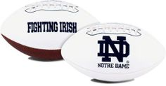 Notre Dame Fighting Irish Full Size Embroidered Football by Caseys. $29.99. Officially licensed. This full size football makes a wonderful collectible piece. They have the school logo embroidered on the front. These are also perfect for autographs.. Save 40% Off!