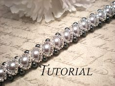 This listing is for a Tutorial PDF Right Angle Weave Swarovski Crystal and Pearl Bracelet with Twisting Seed Bead Overlay. Jewelry Patterns, Bracelet Patterns, Beading Patterns, Beaded Jewelry, Handmade Jewelry, Jewelry Scale, Beaded Bead, Bridal Jewelry, Silver Jewelry