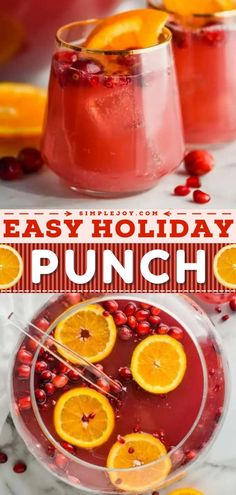 Want to serve a kid-friendly option on Thanksgiving and Christmas? Make this holiday punch recipe for a crowd! In just 10 minutes, you can have a non-alcoholic holiday drink everyone will love at your party. So quick and easy!