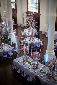 Tablescape ● Purple / Lavender for magical # Purple Wedding ... Wedding ideas for brides, grooms, parents & planners ... https://itunes.apple.com/us/app/the-gold-wedding-planner/id498112599?ls=1=8 … plus how to organise an entire wedding ♥ The Gold Wedding Planner iPhone App ♥