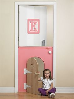 "a childs ""alice in wonderland door"" I would put one of these between bedrooms personally cause it would be cool... kid scared at night no need to walk down a creepy hall just through the door lol"