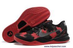 Noir Rouge Nike Zoom Kobe 8 VIII 555035-709 En Ligne