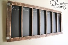 DIY-Chalkboard-Calendar I am so making this!
