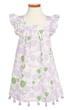 Hatley Ruffle Sleeve Print Dress (Toddler Girls, Little Girls & Big Girls) available at #Nordstrom